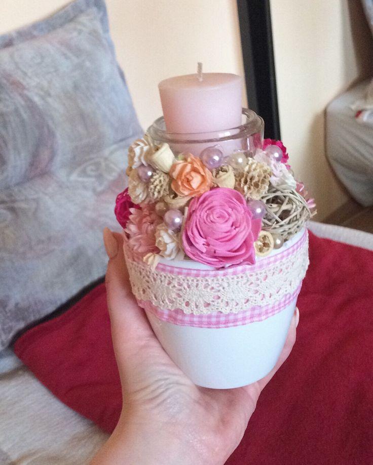 #decor #pink #spring #flower #diy #homemade