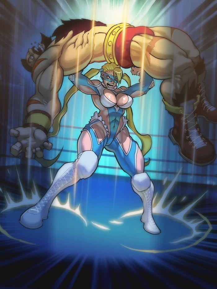 R Mika Defeats Zangief Street Fighter Game Art Personagem