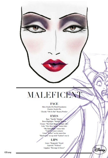 maleficent: her makeup is actually quite beautiful when it isn't green.
