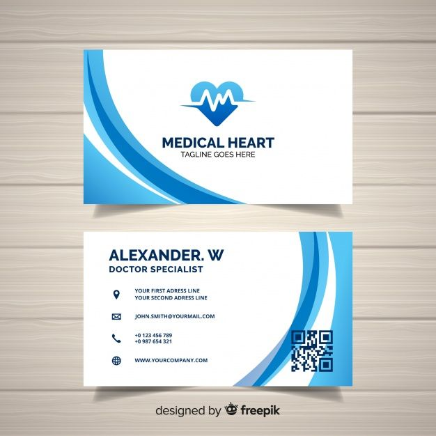 Creative Business Card Concept For Hospital Or Doctor Free Vector Medical Business Card Medical Business Card Design Business Cards Creative