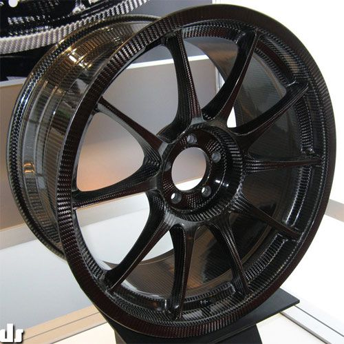Update 2/23/10: For another, all carbon fiber wheel, check out the one we wrote about from Carbon Revolution. A Japanese company by the name of Weds Sport has come up with the first full carbon fib…