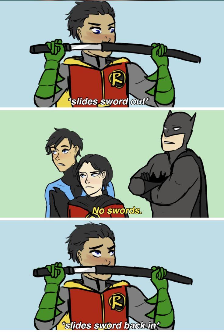 Damian Wayne, Robin, Dick Grayson, Nightwing, Tim Drake, Red Robin, Bruce Wayne, Batman