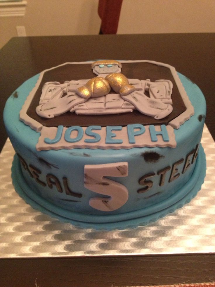 Real Steel Movie Cake My Sweet Creations Pinterest Real - Real birthday cake images
