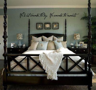 Remember moments days Wall Lettering Words Vinyl Art in Home & Garden | eBay
