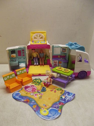Fisher Price Loving Family Dollhouse Mobile Home Beach Vacation camper 100 Plus | eBay
