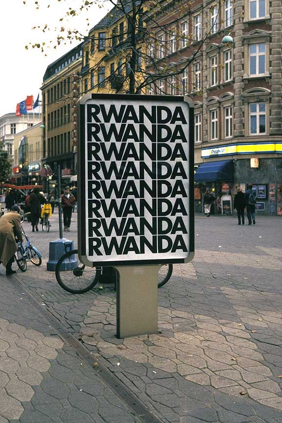 "Alfredo Jaar, ""Rwanda Rwanda"" (1994) - Malmö city intervention."