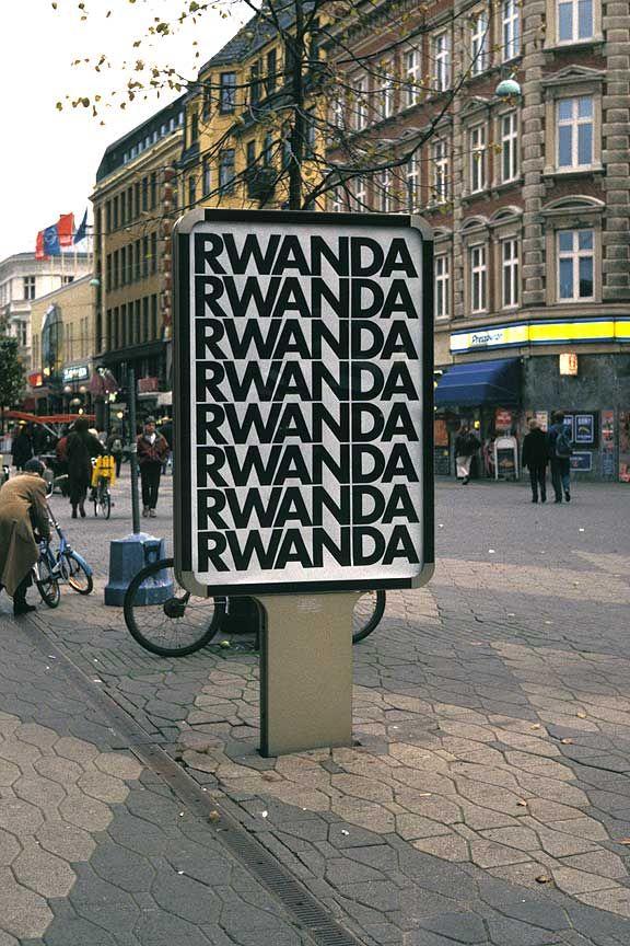"Alfredo Jaar, ""Rwanda Rwanda"" (1994) - Malmö city intervention."