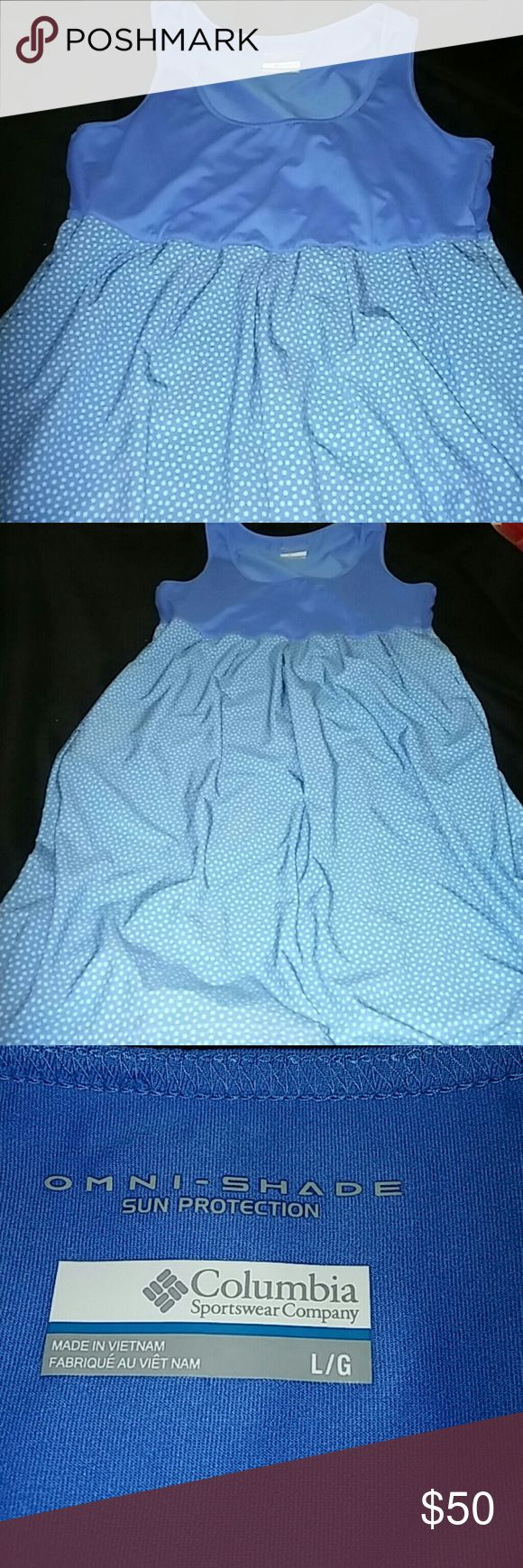 Columbia Dress Omni-Shade Columbia Dress Omni - Shade Sun Protection. Very Comfortable and Light weight,  And side Pockets.  Great Conditions. I took off the care label.  Like New. ⤵ Make an Offer! Columbia Dresses Midi