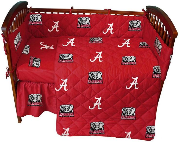Alabama 5 piece Baby Crib Set - ALACS by College Covers