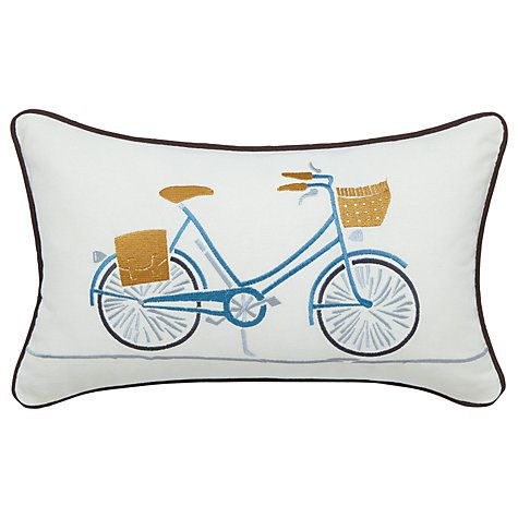 Buy Scion Snowdrop Bicycle Cushion, Burnt Orange/White Online at johnlewis.com