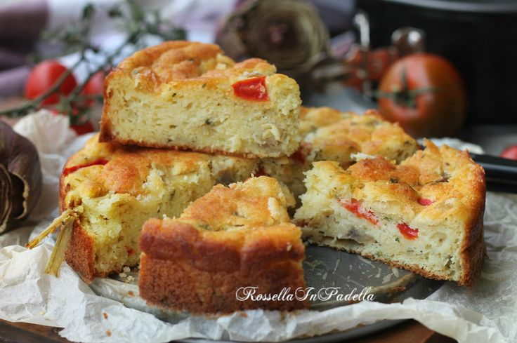 Torta soffice con verdure e mozzarella