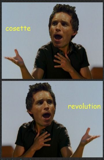 Marius sings about his feelings.
