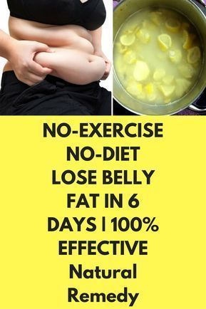 NO-EXERCISE NO-DIET LOSE BELLY FAT IN 6 DAYS | 100% EFFECTIVE Natural Remedy Tod...