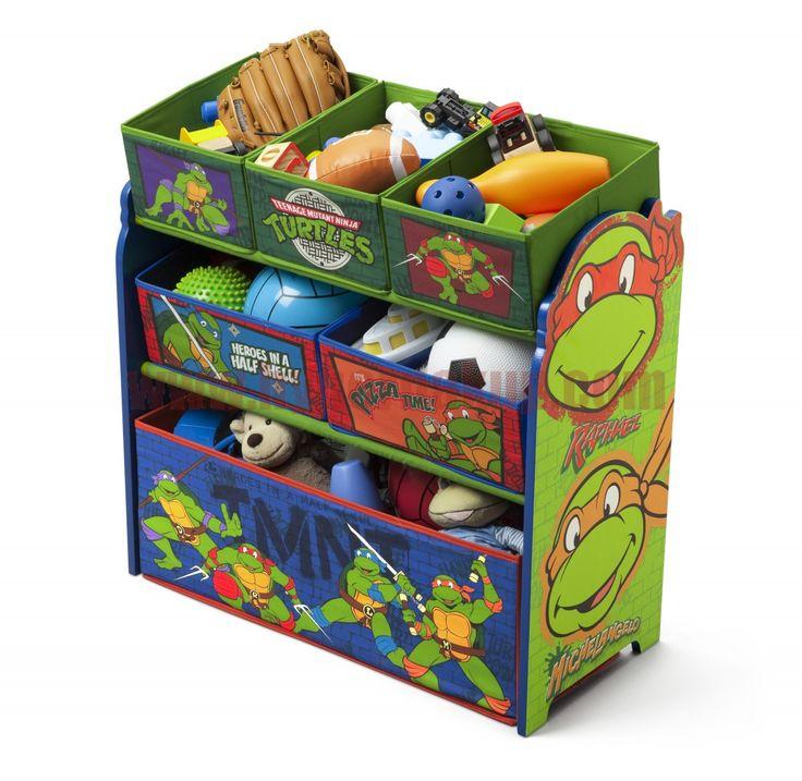 Komoda organizér na hračky vyrobená v originálnej licencii Disney Ninja korytnačky tourtles  obsahuje 6 plátených prepraviek o rôznych veľkostiach. Detský nábytok je možné využiť od narodenia na rôzne potreby pre bábätko až po ukladanie hračiek. Je dobre dostupná deťom tak, že si samy môžu ukladať svoje veci.Určené pre deti od 3 rokov.Bočnice vyrobené z drevených maľovaných materiálov.Certifikované Celkové rozmery výška - 66 cm hĺbka - 30 cm šírka -64 cmDetská komoda organizér na hračky…