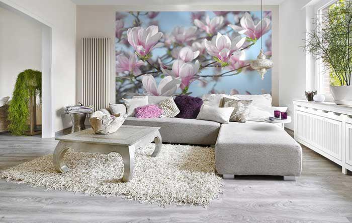 Fotomurale floreale ǀ Poster gigante Magnolia - Spidersell Italia | Decorazione creativa