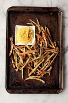 #baked #french #fries with #spicy #garlic #aioli