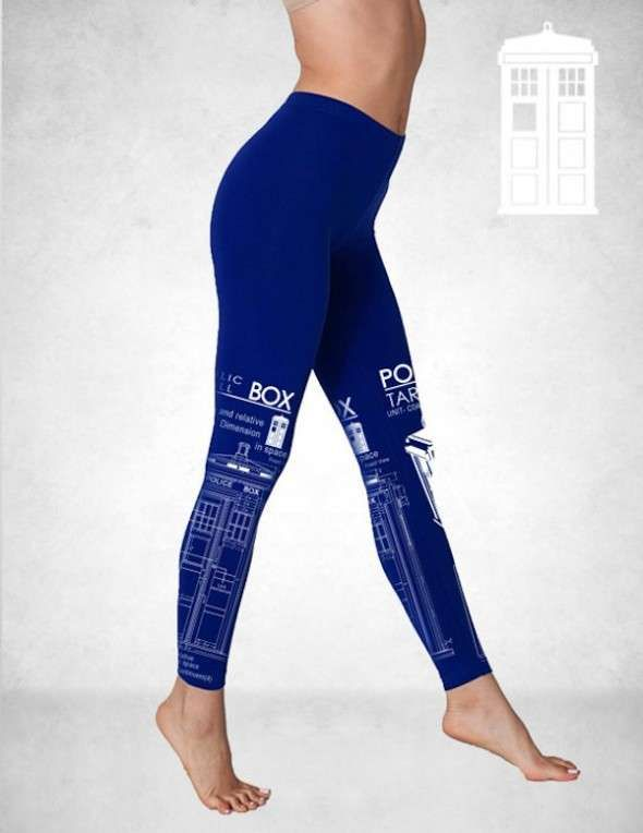 Sci-Fi Printed Leggings - These Screen Printed Leggings are Made for Fans of the Supernatural (GALLERY)