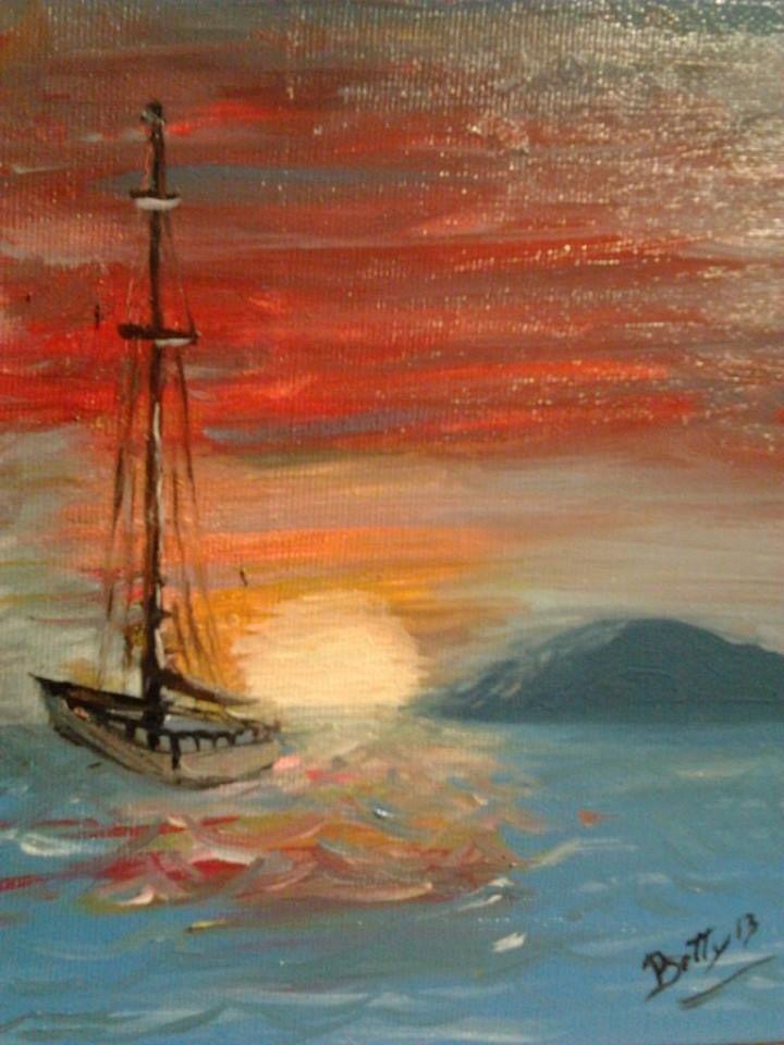 Anna Selvaggio: Quiete dopo la tempesta (2013). Olio su tela, tecnica a pennelli
