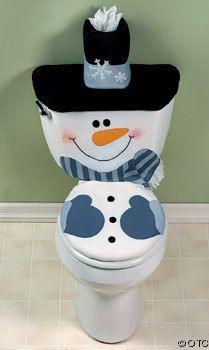 snowman toilet cover