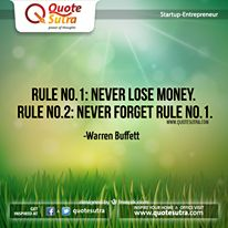 Here is a great #Quote for #startup & #Entrepreneurs by Warren Buffett. #success