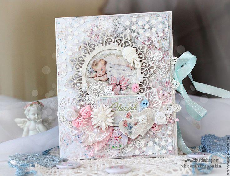 Купить Детская открытка - бледно-розовый, открытка, детская открытка, детская…