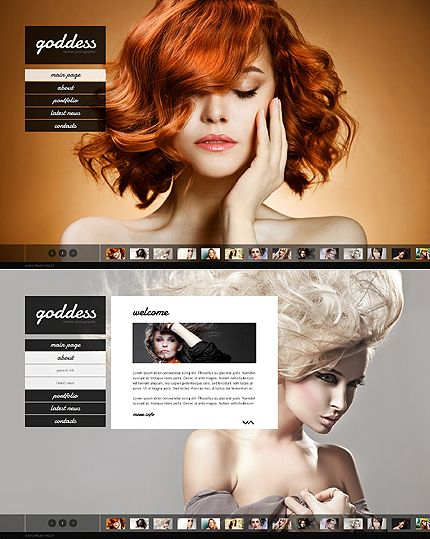 Website Template #webdesign #photo