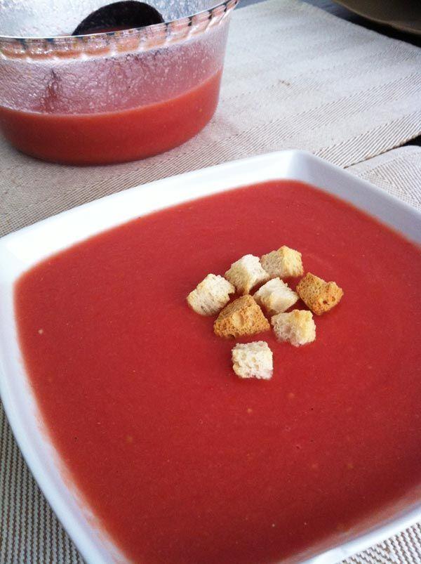 Receta de Sopa de tomate fria