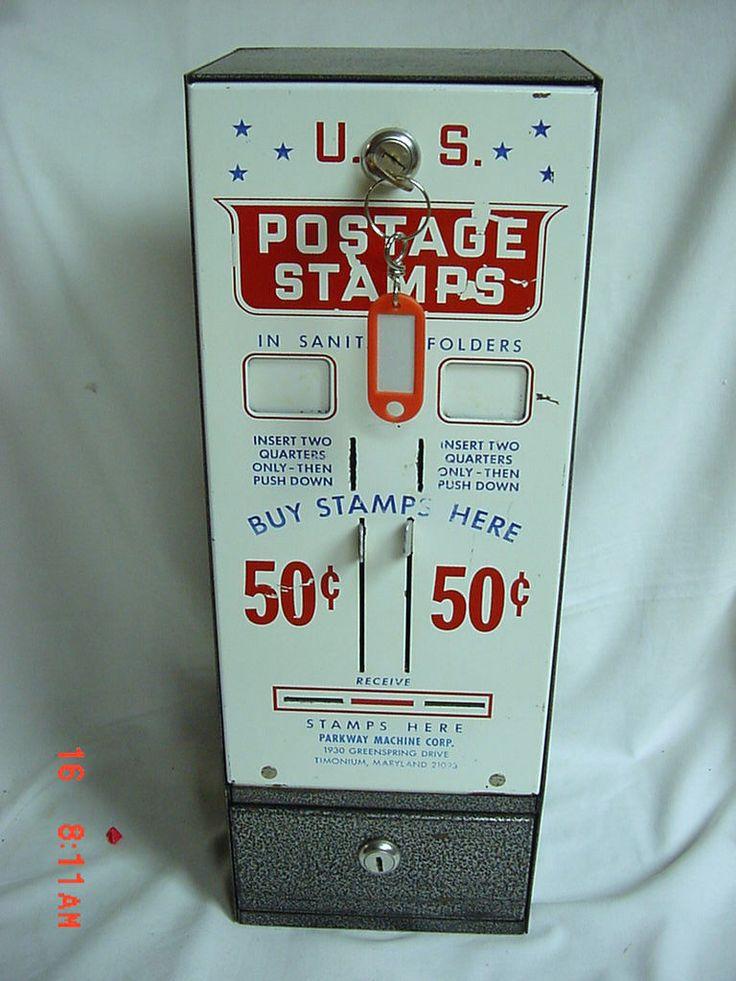 Vintage US Postage Stamp Dispenser Vending Machine 2 Slots ...