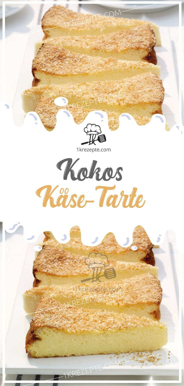 Kokos-Käse-Tarte