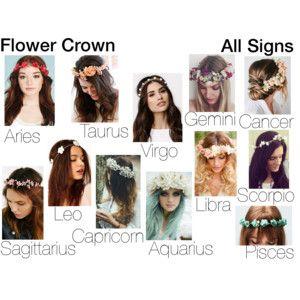 Flower Crown-Zodiac signs