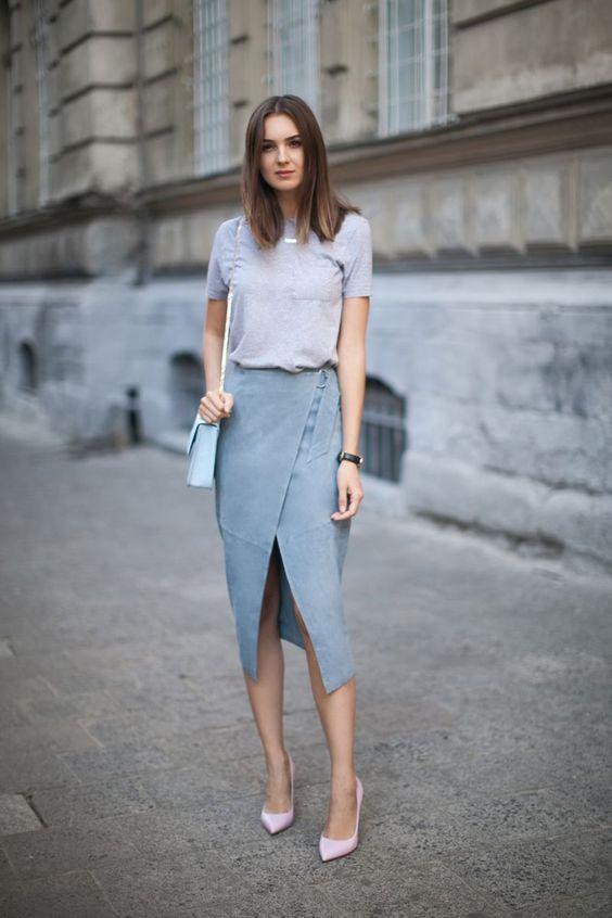 Ce topuri să porți cu o fustă midi. 5 idei - Modă > Moda de la A la Z - Eva.ro