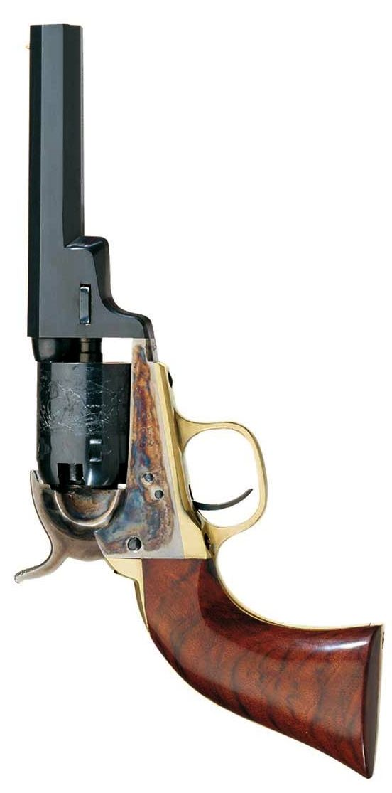 """Concealed Carry Circa 1849 - Uberti® 'Wells Fargo' .31 Caliber - 4"""" Barrel - Blue finish with case hardened frame, brass backstrap & trigger guard and Embossed Cylinder - 1849 Uberti® 'Wells Fargo' will soon be listed on our website. Until then, please email: luke@huntinganddefense.com - SKU 038"""