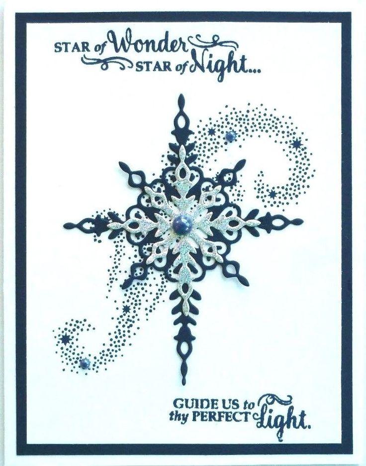 Christmas Card Making Kit of 4 Star of Wonder Light Starlight Stampin' Up! #StampinUp