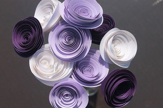 12 Purple Spiral Wedding Rose Flowers - Corsage/Boutonniere -  Bouquet  - Centerpiece  - Baby Shower - Home Decor - Gift - Party -  Centro de mesa  boda