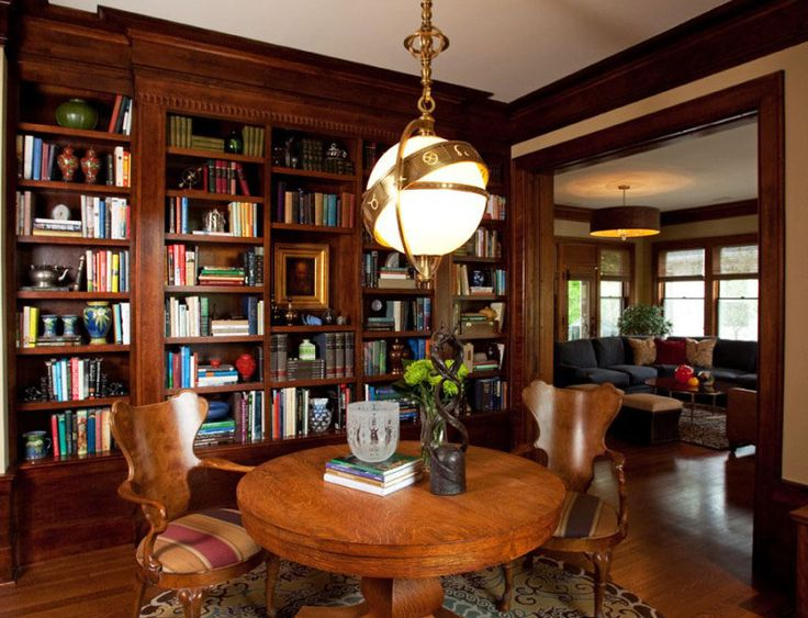 Library Room Design Ideas. Cool This Cherry Library Features A ...