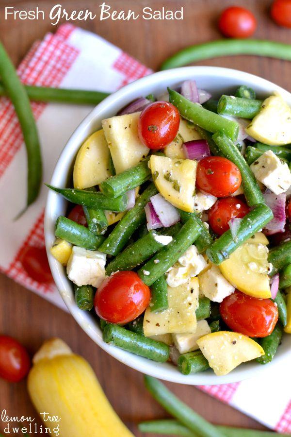 , Beans Salad Green Yellow, Green Beans Salad, Salad Recipe, Lemon ...