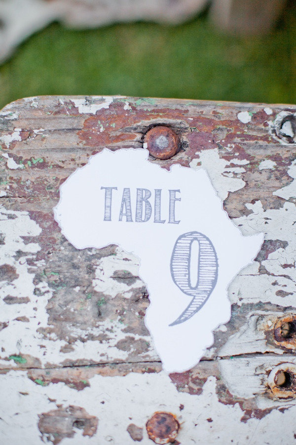Africa table numbers Photography by gabrielandcarincom 9