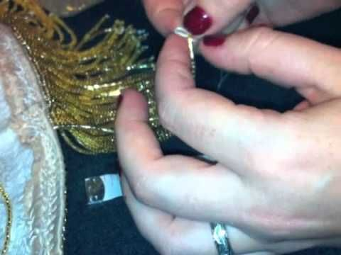 How to make beaded fringe for bellydance costumes - Good details for the knot at the end of the strand to keep your beads from flying off and decorating the audience when you dance :)