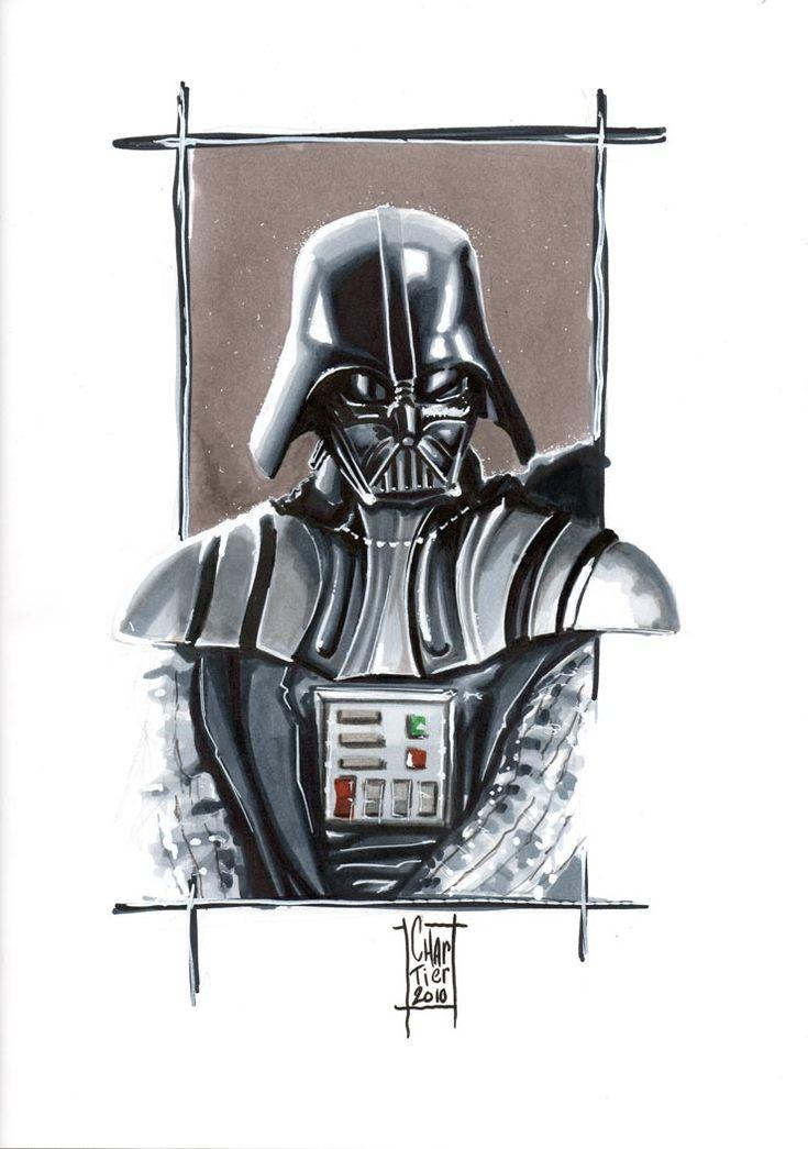 Star Wars Illustrations - by Francois Chartier: Darth Vader, Francois Chartier, Starwars Art, Art Photography, War Illustrations, Deviantart Starwars, Empire Portraits, Stars War, Art Attack
