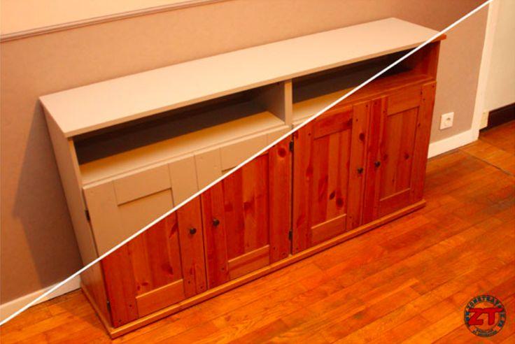 17 meilleures images propos de meubles sur pinterest meubles armoires et - Repeindre bureau bois ...