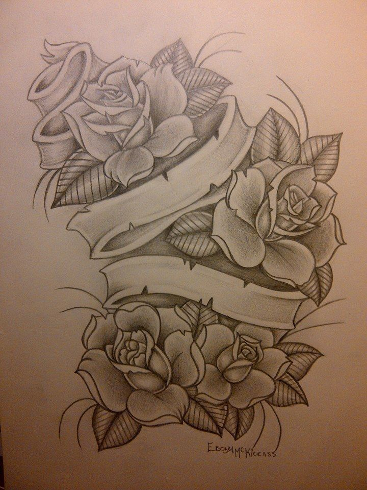 rose drawings with banners wwwpixsharkcom images