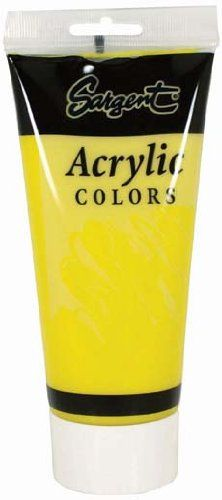 Sargent Art 23-0402 200Ml Tube Acrylic Paint, Yellow/Primary Yellow - https://tryadultcoloringbooks.com/sargent-art-23-0402-200ml-tube-acrylic-paint-yellowprimary-yellow/ - #PaintBrushes