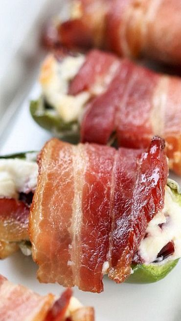 Bacon-Wrapped, Cream Cheese and Craisin-Stuffed Jalapeno Peppers