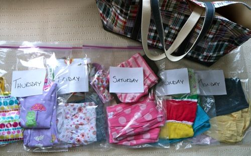 pack bulky items in ziplock bags to squish the air out. Then put them on your Rise bag for even more organization!