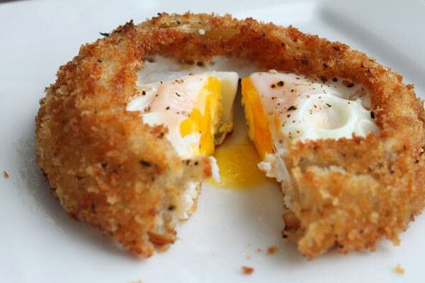 Slimming world Egg in onion ring if u coat the onion urself it would.be syn free