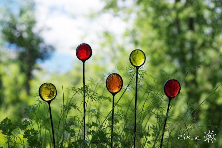 Купить Леденцы. Декор в цветочный горшок - ярко-красный, красный, оранжевый, желтый, черный, цветы