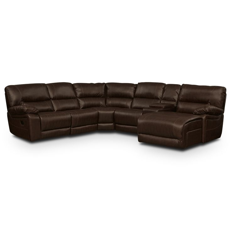 "5 Pc. Reclining Sectional Height: 38"" Depth: 39"" Other Dimensions: Sectional measures 97 inches from left arm to corner and 110 inches from ..."