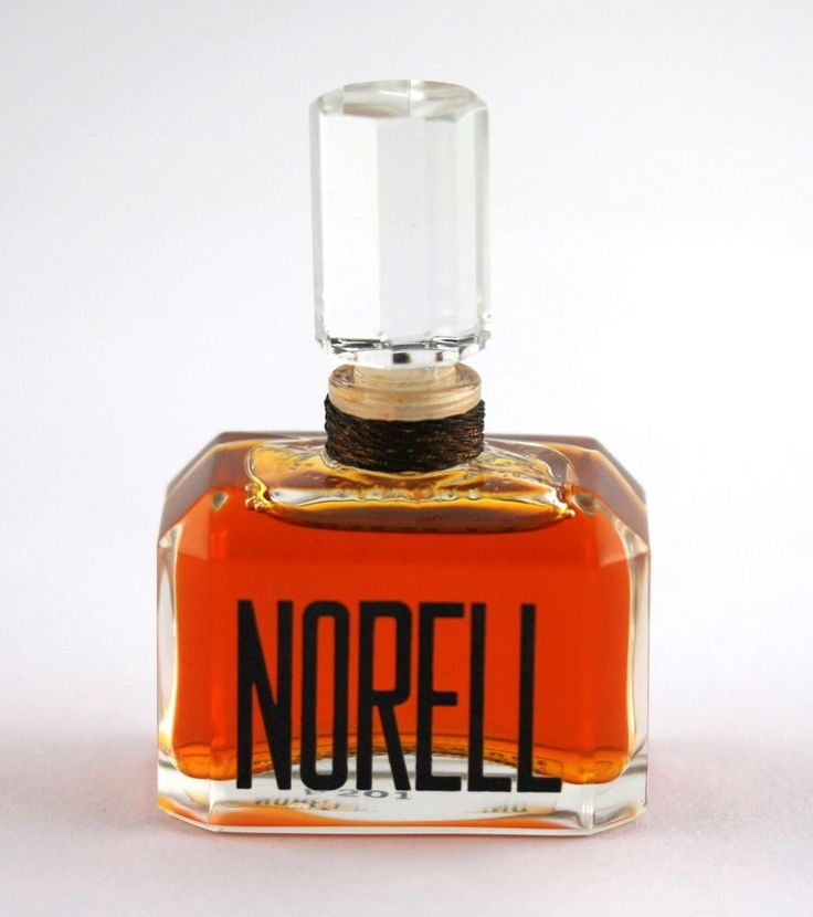 RARE Vintage Norell Perfume 1/2 Fl. OZ Crystal Top FULL Bottle With Cord
