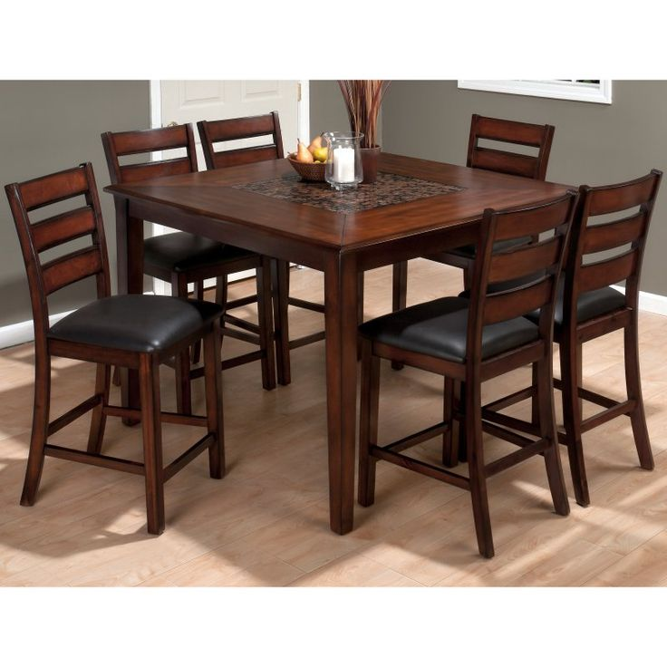 counter height dining table sets sacramento pub with storage base dark cherry finish butterfly leaf