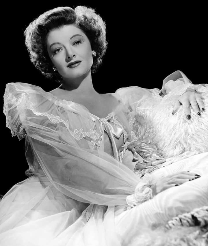Myrna Loy (August 2, 1905 - December 14, 1993) Photo: For